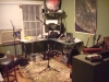 The Hiyaa Martial Arts Podcast Studio Set-up at Dave\'s